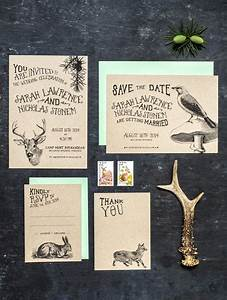 woodland animal wedding invitation set of 4 by 3eggsdesign With etsy woodland wedding invitations