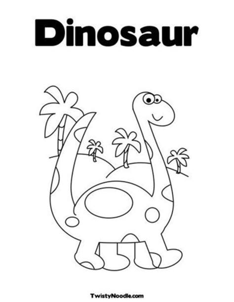 dinosaur coloring page from twistynoodle preschool 495   l 5a194470 50fd 11e2 b1a6 598809900012