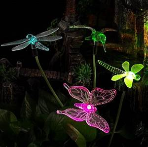 Solar Powered Color Changing Outdoor Stake Lights Fresh