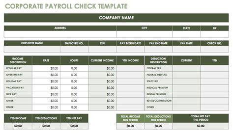 payroll check template 15 free payroll templates smartsheet