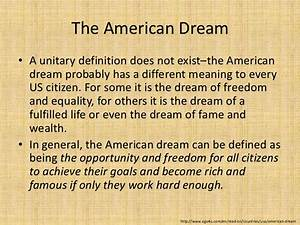 the american dream argumentative essay