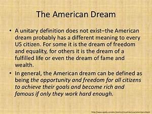 american dream research paper