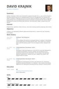 resume for testing profile for experience software test engineer resume sles visualcv resume