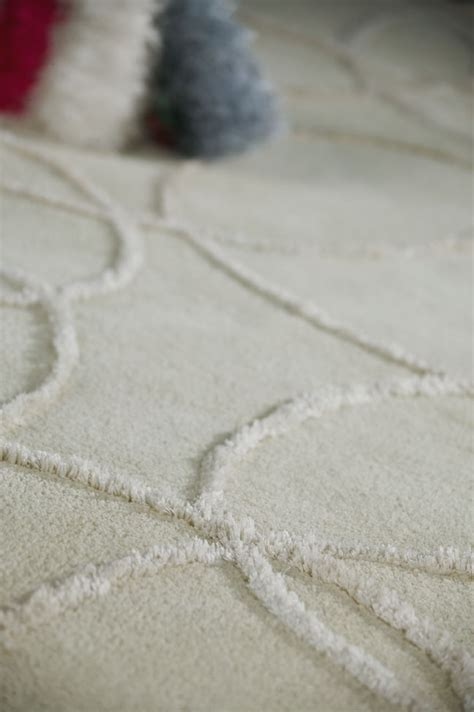 mat white hilo wool rug    textured rugs