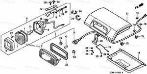 Honda Atv 1993 Oem Parts Diagram For Taillight