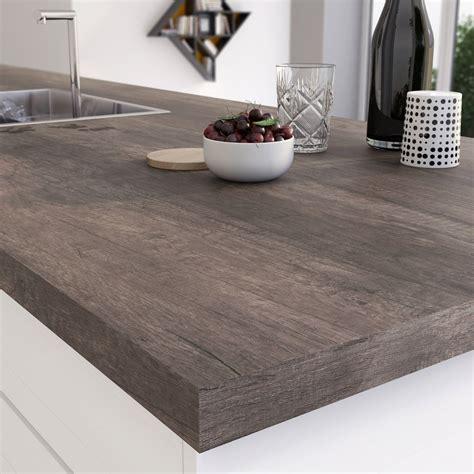 plan de travail cuisine stratifié plan de travail stratifié planky brun mat l 315 x p 65 cm