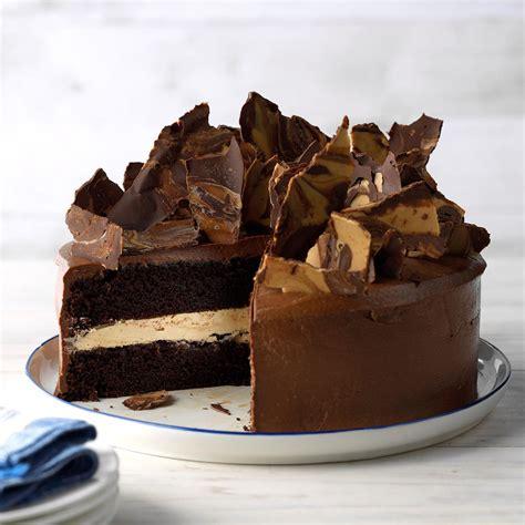 rich chocolate peanut butter cake recipe taste  home