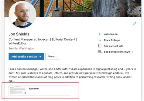 How To Put Resume On Linkedin by How To Upload Your Resume To Linkedin Step By Step Pics