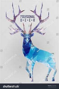 Abstract Polygonal Deer Geometric Hipster Illustration ...