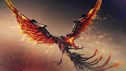 Phoenix 4k Wallpapers Mecha Crossfire Bird Desktop