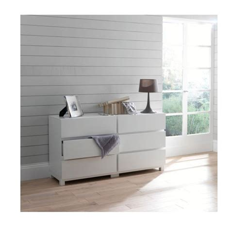 commode 6 tiroirs blanc laque commode 6 tiroirs blanc laque maison design hosnya
