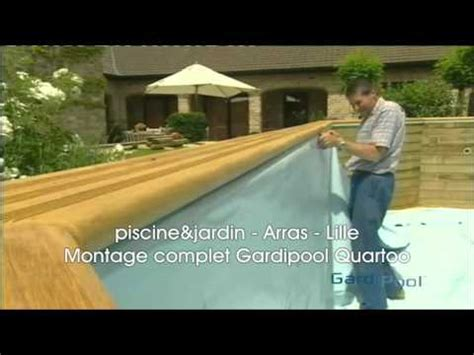 montage complet piscine hors sol gardipool quartoo piscine et jardin
