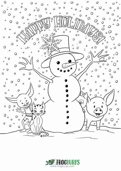 Coloring Happy Holidays