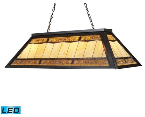four light bronze pool table light craftsman