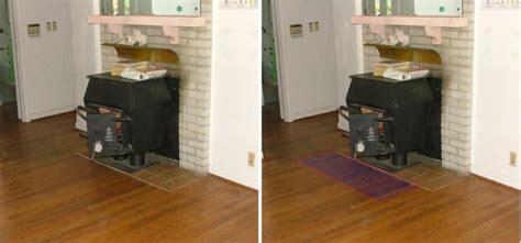 wood stove floor protection mats honey do you smell something burning
