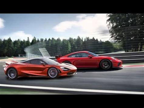 2018 Porsche 911 Gt3 Vs 2018 Mclaren 720s Youtube