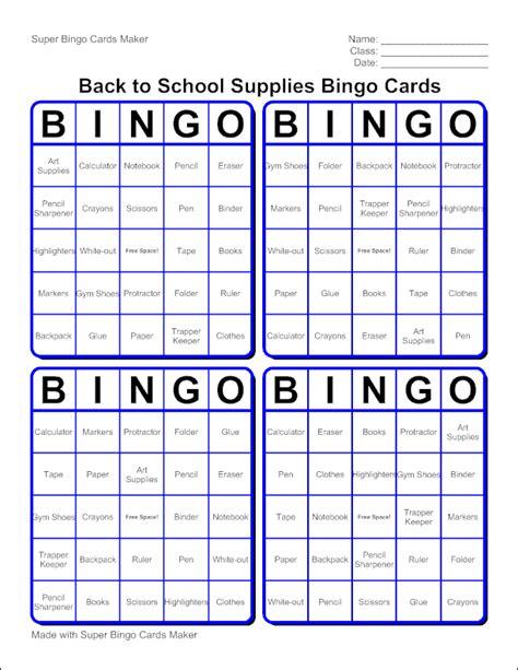 Edubakerycom  About Super Bingo Card Maker