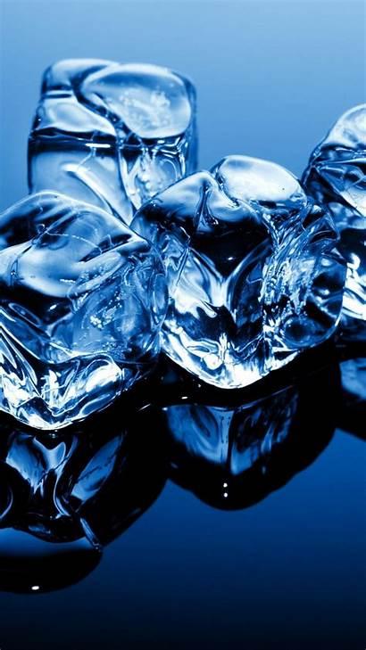 Ice Frozen Background Water Cubes 4k 5k
