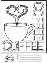 Coloring Pages Coffee Cups Cup Printable Sheets Adult Sheet Starbucks Sign Drawing Activities Colouring Cute Print Cool Menu Ginormasource Christmas sketch template