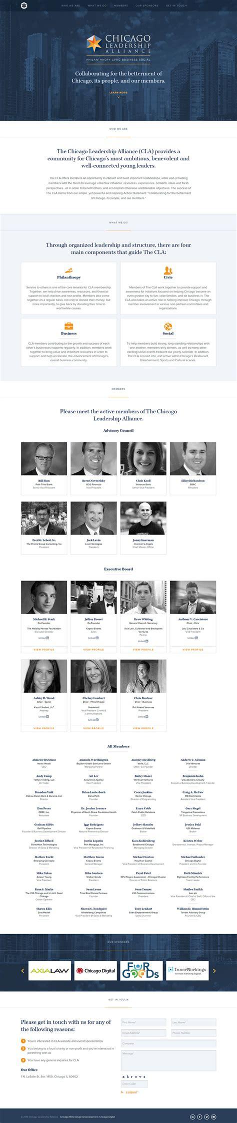 chicago leadership alliance responsive web design