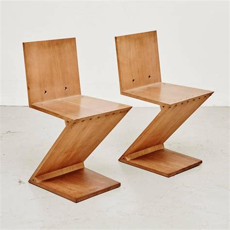 zig zag chair by gerrit rietveld for metz co 1968 for