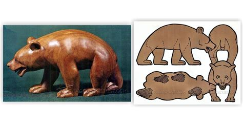 carving bear wood carving patterns woodarchivist