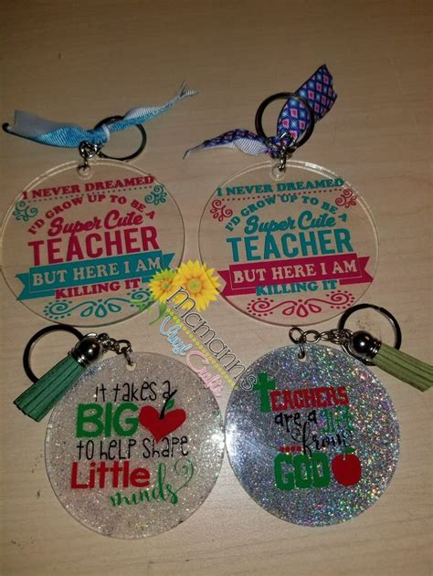 acrylic key chains   cricut crafts diy teacher gifts diy resin crafts