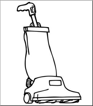 vacuum clipart black and white clip vacuum cleaner b w i abcteach abcteach