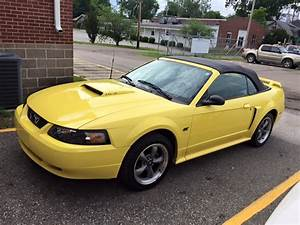 4th gen yellow 2001 Ford Mustang GT 5spd manual [SOLD] - MustangCarPlace