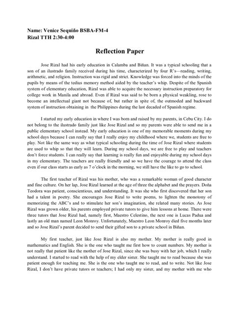 rizal reaction paper  words