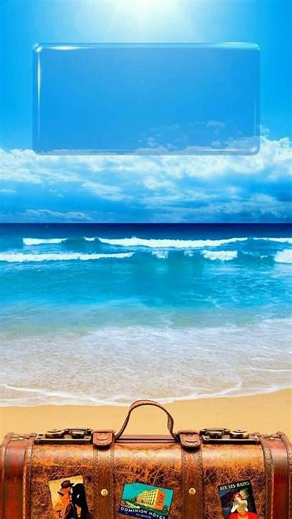 Lock Screen Iphone Water Wallpapers Creative Beach