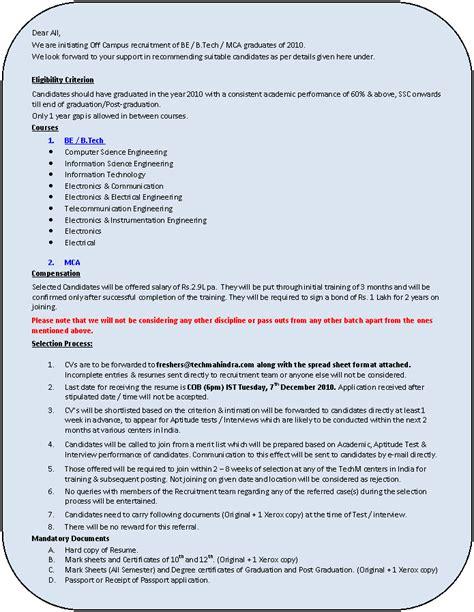 resume demo for fresher