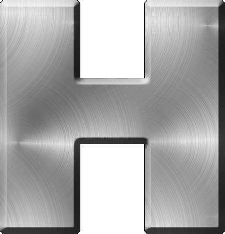 presentation alphabets brushed metal letter a presentation alphabets brushed metal letter h 31331