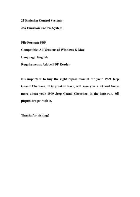 1999 jeep grand cherokee service repair workshop manual