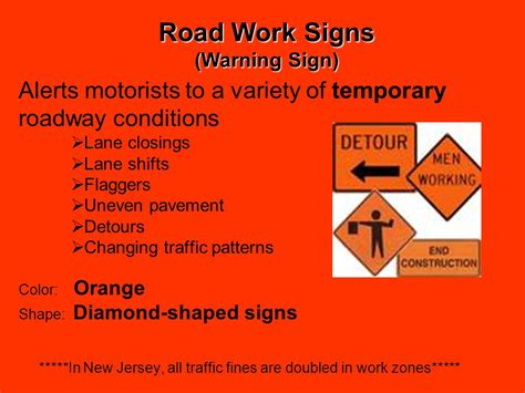 the color of a motorist service sign is three types of road signs ppt
