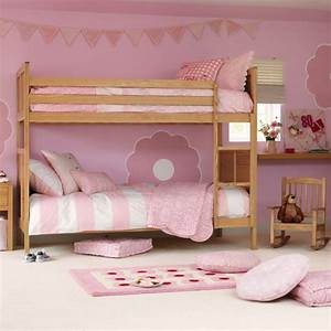 Pink Bunk Bed Theme For Girls Bedroom Ideas - Pink Bedroom ...