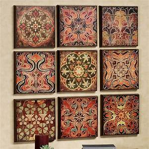 tuscan 9 pc wall panel set With tuscan wall art