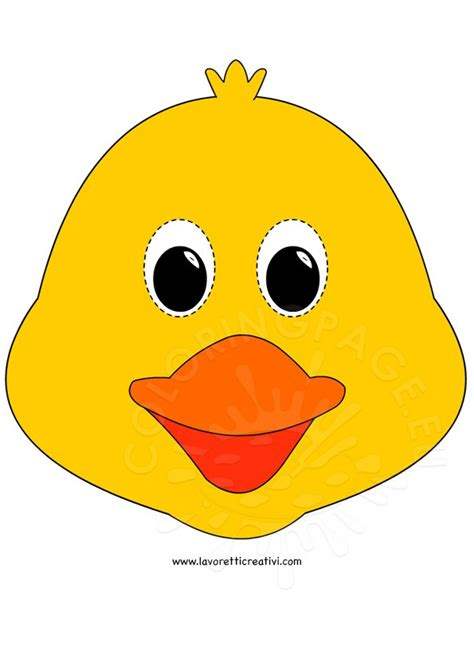 easter crafts chick mask coloring page