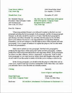 Business Letter Format – Formal Writing Sample, Template ...