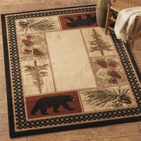 Timber Woods Bear Rug   8 x 10