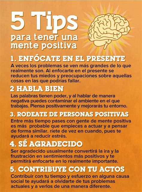 cinco consejos para lograr una mente positiva psicohuma