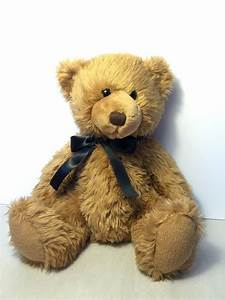 Russ Berrie Plush Sitting Brown Teddy Bear Collectible ...