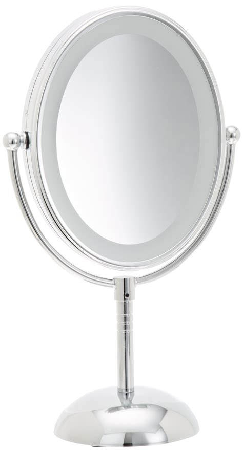 lighted makeup mirror amazon conair led makeup mirror reflections lighted battery 7x