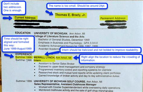 Tom Brady Resume Tfm by Gpa Resume