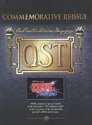 Commemorative Reissue QST Magazine December 1915