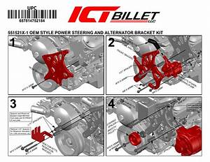 Ls Corvette   Power Steering Pump Bracket Kit