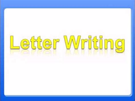 letter writing rules  formal letter writing