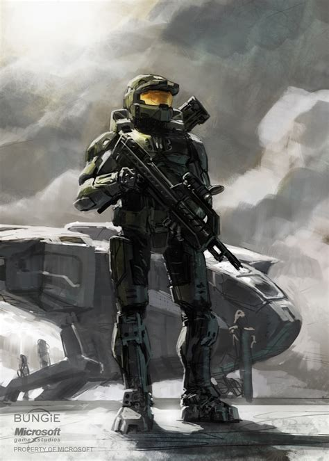 Master Chief Halo Isaac Hannaford Halo Concept Art