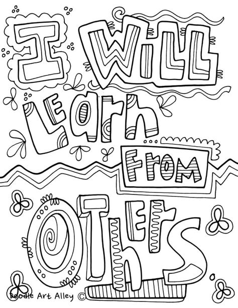 Kleurplaat Abdul Jabbar by Growth Mindset Coloring Pages From Classroom Doodles