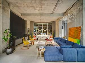 Industrial, Style, For, Living, Room, Design, Apply, With